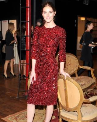 A red festive frock worn by Hilary Rhoda would make a stunning party frock, says Jackie O'Fee.