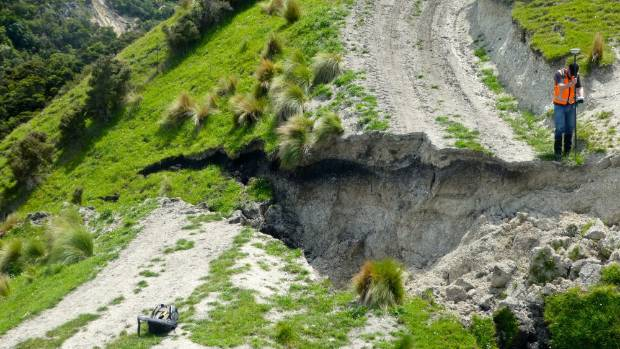 Another example of the energy unleashed in the Kekerengu Fault rupture.
