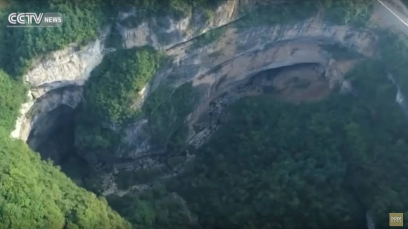 Watch World S Largest Cluster Of Sinkholes Uncovered In
