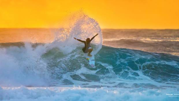 Tania Niwa is the chief photographer for top New Zealand surfer Ella Williams.