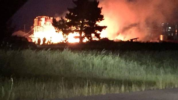 A fire ripped through New Zealand Timber Packaging's industrial plant in Tauhara, Taupo.