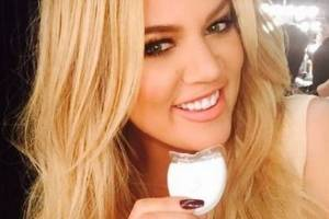 Khloe Kardashian has become an influential endorser of teeth-whitening products. Photo: Instagram