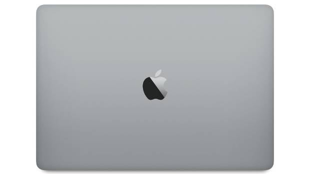 The new MacBook Pro in space grey.