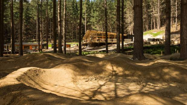The children's pump track at the Christchurch Adventure Park is nearing completion, along with the restaurant and bar in ...