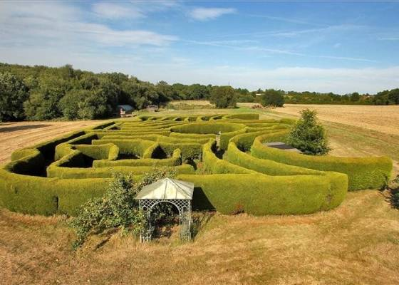 It may not be quite as enchanted as the one in Harry Potter, but the maze on this farm is pretty impressive.