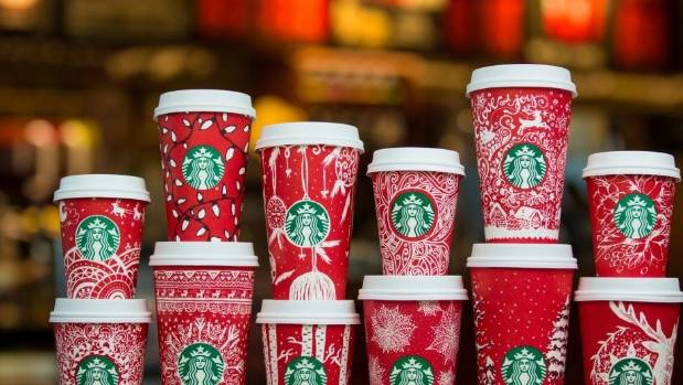 Starbucks' 2016 holiday cups.