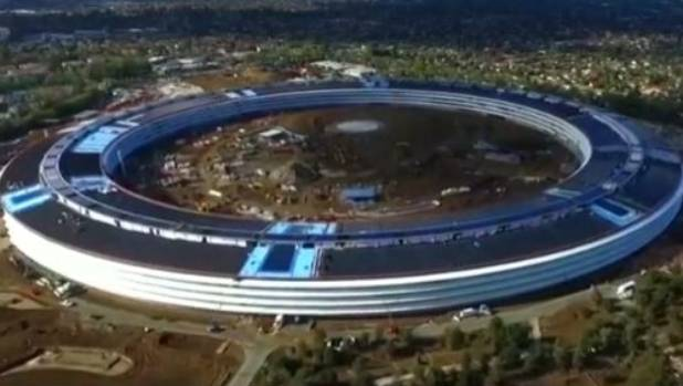It's not a spaceship, it's Apple's new HQ.