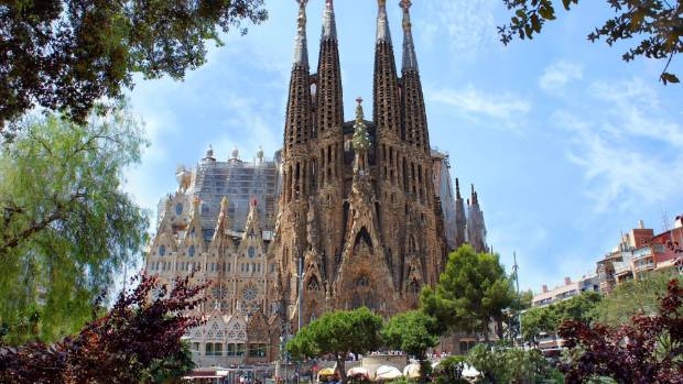 La Sagrada Familia in Barcelona was designed by Antoni Gaudi.
