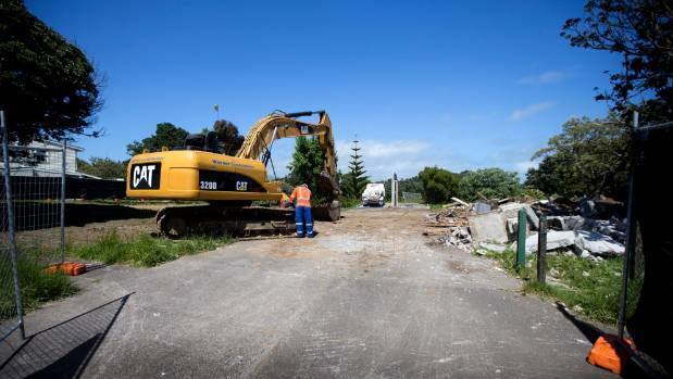 Two Housing New Zealand houses were knocked down on Cook Street, New Plymouth, last week to create an access way to ...
