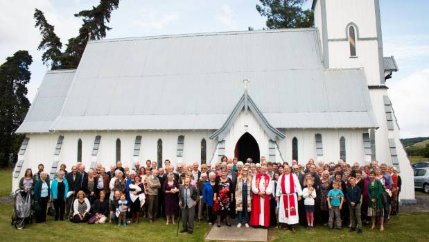 Members of the two congregations of St Michael's and St Paul's celebrate the 150th anniversary of St Michael's church at ...