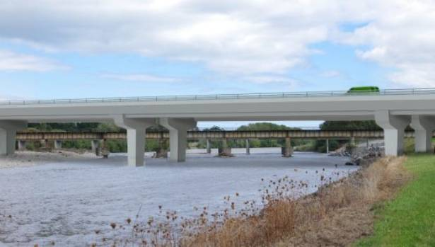 An artist impression of the new bridge over the Otaki River, which will form part of the Peka Peka to Otaki expressway.