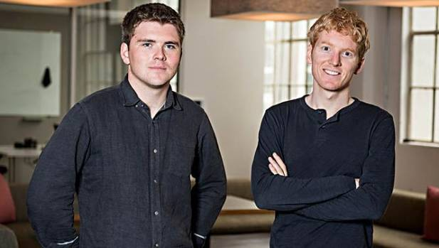 John, left, and Patrick Collison join a very select group of 20-something billionaires.