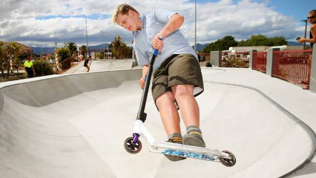 Jack Hall says the skate park in Blenheim is for everyone, not just skaters.