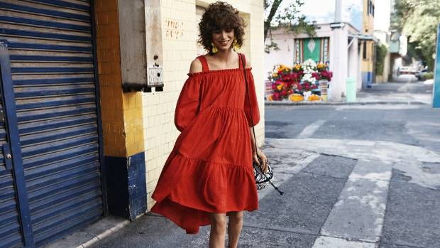 The campaign image of this red dress proved irresistible to many shoppers.