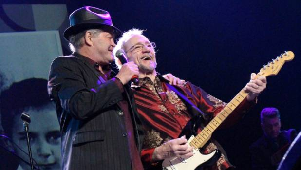 The Monkees duo Micky Dolenz and Peter Tork had the audience singing and dancing along during their concert in ...