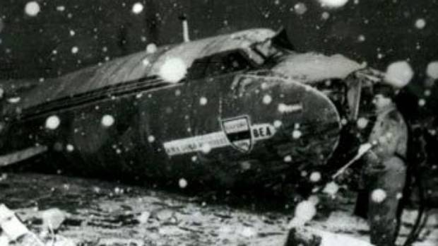 Eight members of the Manchester United squad were killed when  this plane crashed in Munich in February 1958.