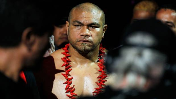 David Tua walks to the ring for his final fight. The legendary New Zealand heavyweight has thrown his considerable ...