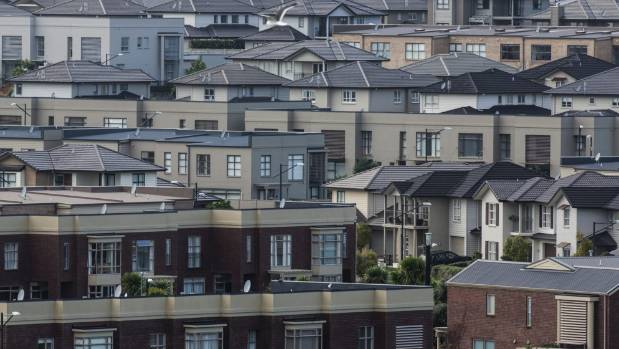 Housing in Auckland, where house price inflation has fallen by 10 percentage points since 2015.