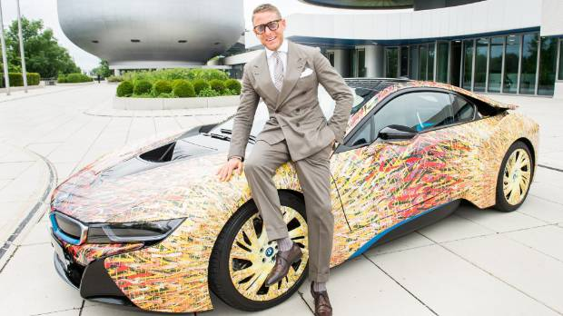 Elkann poses during the presentation of the BMW i8 Futurism Edition in June.