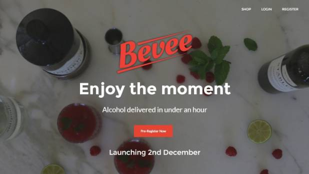 The Bevee website will sell alcohol at similar prices to a liquor shop.