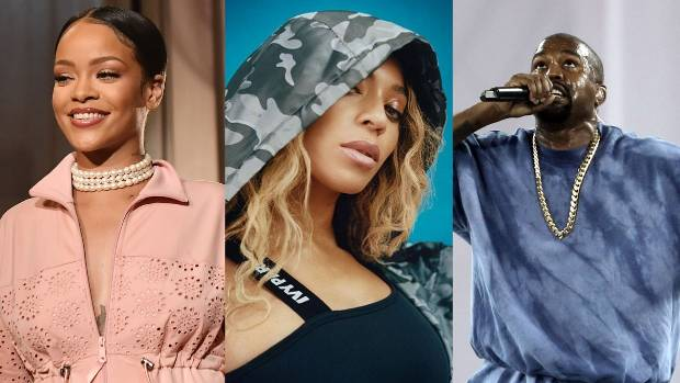 One major trend for 2016? Musicians like Rihanna, Beyonce and Kanye West making athleisure clothing.