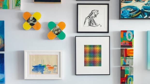 Choose art and prints that are colourful and interesting if you're looking to make a big pattern statement.