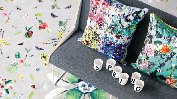 Start small with cushions and other home accessories.