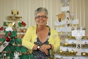 Helping spread Christmas cheer is Hospice Marlborough's fundraising and events co-ordinator Sandy Inwood with some of ...