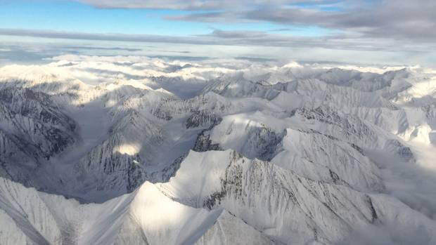 Aerial view of the Brooks Mountain Range en-route to the Northern Slope of Alaska.
