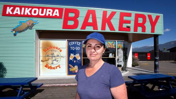 """Kaikoura Bakery owner, Sophia Smedley, was """"blown away"""" by the generous offer by Oliver's Bakery in Whangamata."""