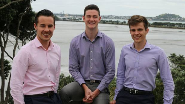 Bevee founders Jordan Jennings, left, Jack Price and Hugh Blackburne saw an opportunity to set up the business after ...