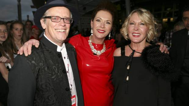 From Left: Ray Columbus, television personality Astar, and Columbus' wife Linda at the NZ Music Awards at Vector Arena ...