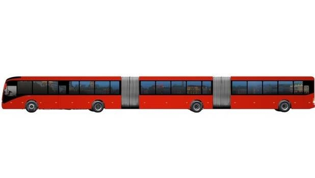 Volvo's Gran Artic bus which is 30 metres long and can carry up to 300 passengers.