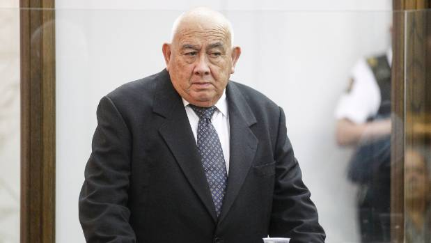 The former Tenths Trust chairman and Te Puni Kokiri chief executive Sir Ngatata Love awaits sentencing in the High Court ...