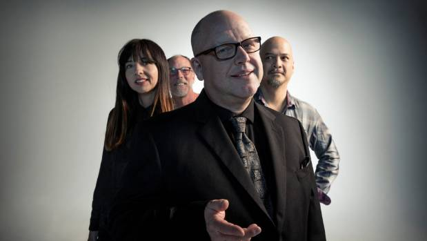 American rock band Pixies - Black Francis, drummer David Lovering,  guitarist Joey Santiago, and bassist Paz Lenchatin.