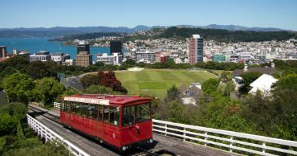 Wellington's Cable Car is New Zealand's only funicular railway.
