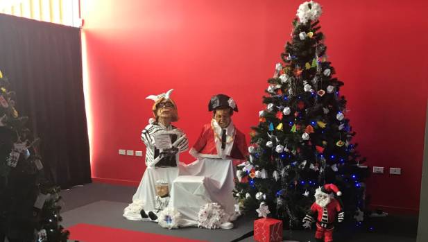 The Christmas tree display at Stadium Southland created by Invercargill Prison inmates.