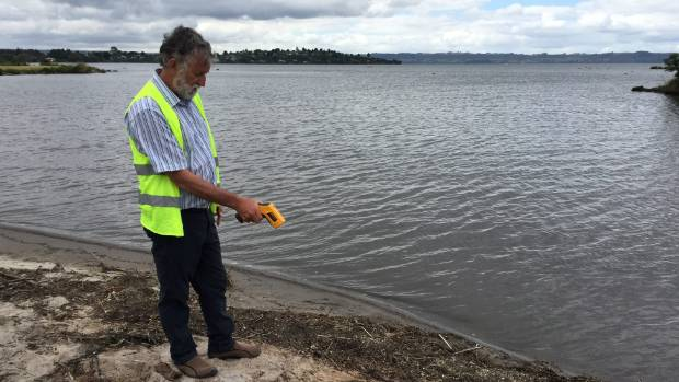 GNS volcanologist Brad Scott in Ohinemutu after yet another eruption in Lake Rotorua.