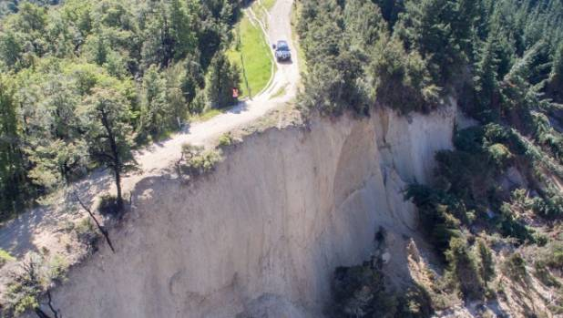 Peter Turner believes this new canyon formed near Waiau following this months magnitude-7.8 earthquake is between 600 ...