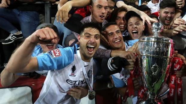 Melbourne City captain Bruno Fornaroli let the excitement of winning the FFA Cup get the better of him with his victory ...