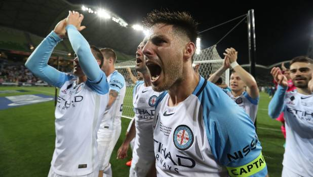 Bruno Fornaroli had plenty to shout about after Melbourne City won the FFA Cup.