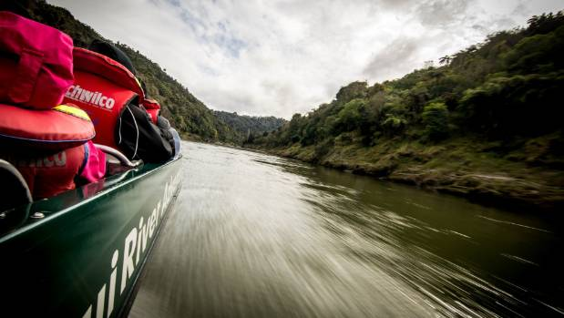 From the comfort of the jetboat the Whanganui River's tortuous recent history makes for an exciting history lesson.