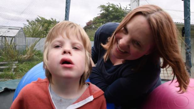 Cathy with her son, Mitchell.