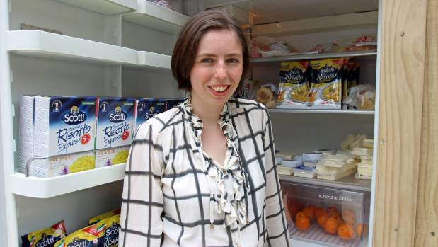 Blogger Amanda Chapman is the brains behind a new community fridge in Auckland's CBD.