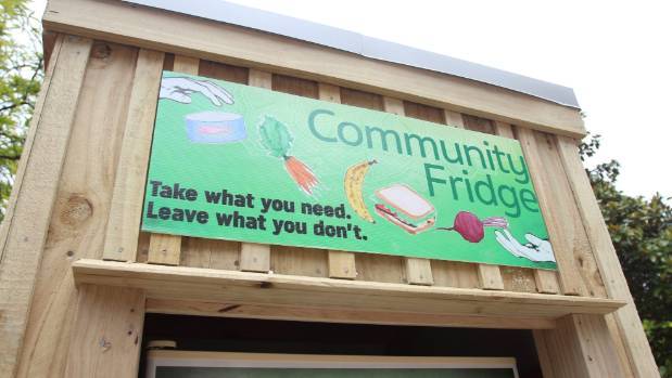 The fridge is always open which allows people to drop off or access the food at all hours.