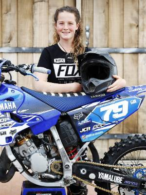 Roma Edwards, 14, has a dream to be a professional motocross rider.