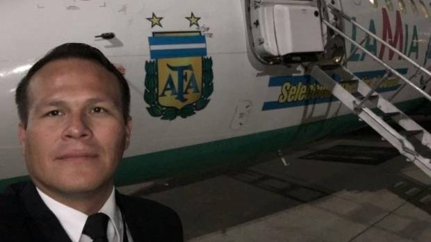 Miguel Quiroga, the pilot of the jet plane that crashed in Colombia.