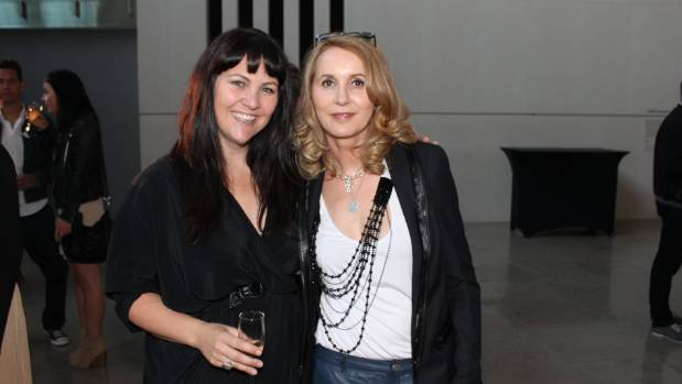 At the launch of 'Who Shot Rock & Roll' at the Auckland Art Gallery, with Katie Mills.