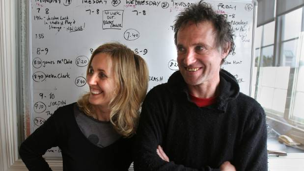 With husband Andrew Fagan, photographed at Kiwi FM in 2005.
