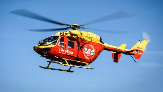 The woman was winched from the boat in a tricky night-time rescue from the moving ship, and was flown to Wellington ...